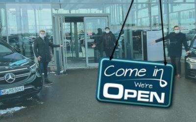 Come in – we're open! Verkauf und Probefahrten in unseren Thüringer Autohäusern.